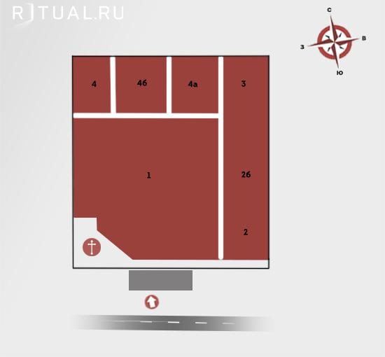 Схема Черневского кладбища