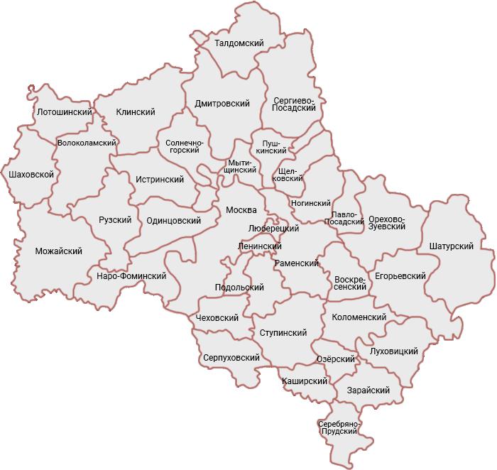 Карта Подмосковья