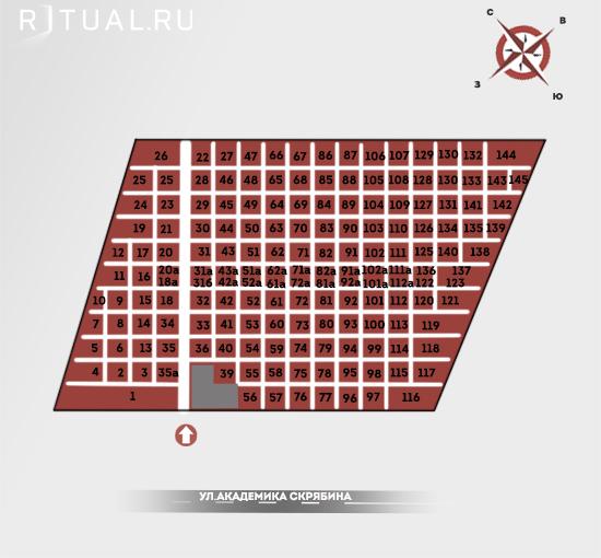 Схема кузьминского кладбища тумбы для памятников