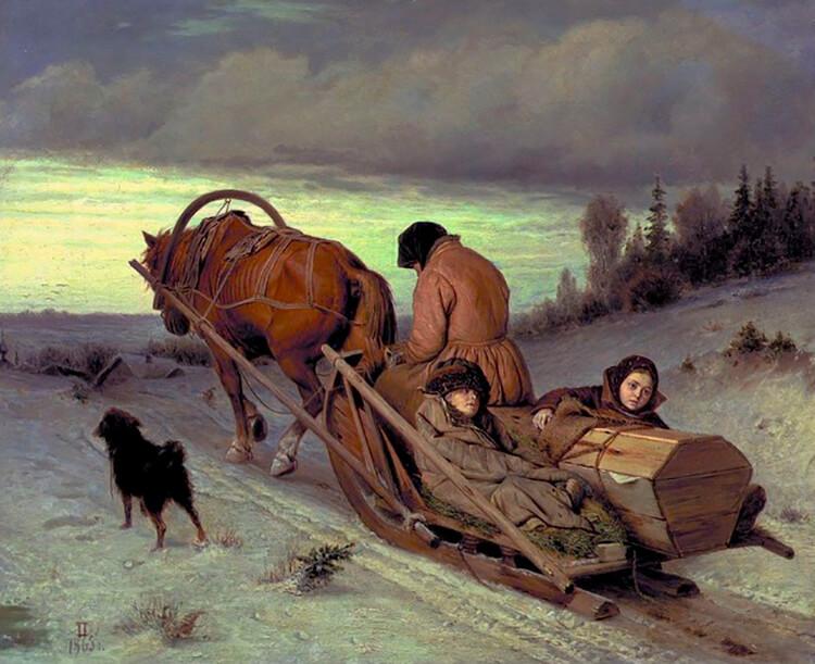 Тема смерти в картинах российских художников: Василий Григорьевич Перов