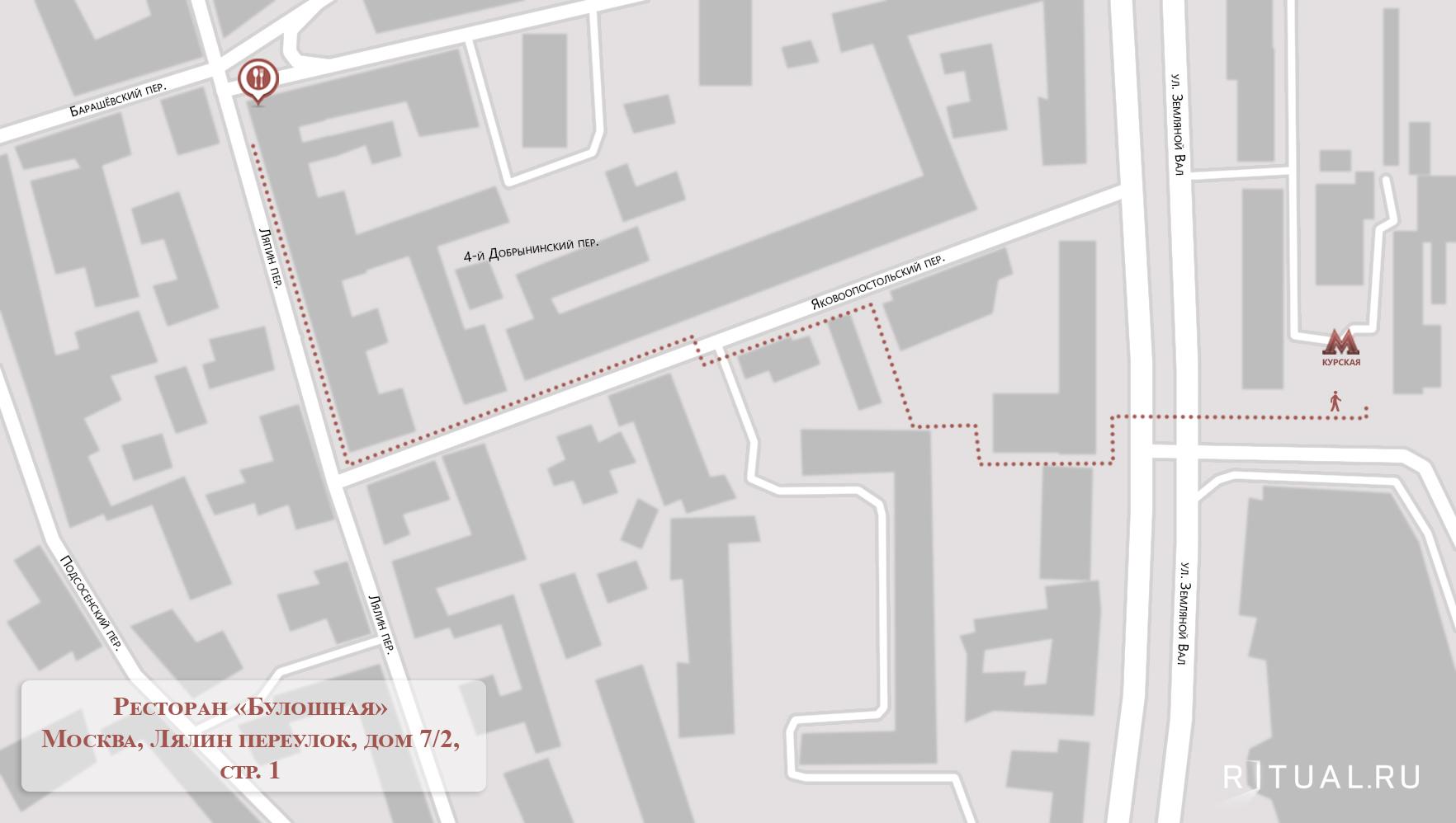 Схема проезда лялин переулок